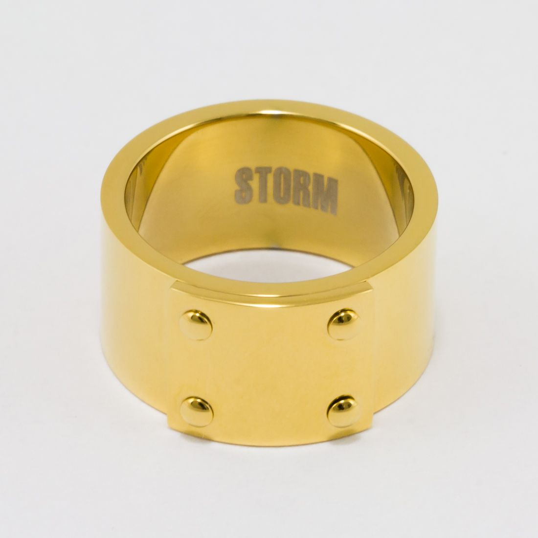 Oceľový prsteň STORM RUMI Ring Gold ON00592